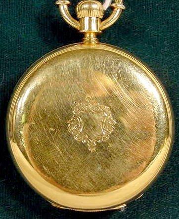 2100: Howard Model N 18K Hunting Case Pocket Watch NR
