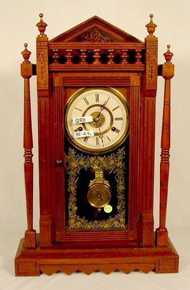 2510: New Haven Vistula Walnut Shelf Clock NR