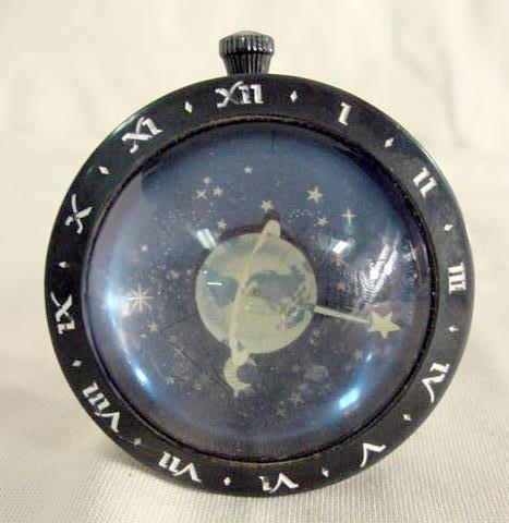 2513A: Lux Westclox Bakelite Space Clock NR