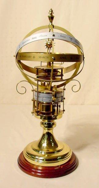 2520: Modern Annular Dial Orrery Table Clock NR