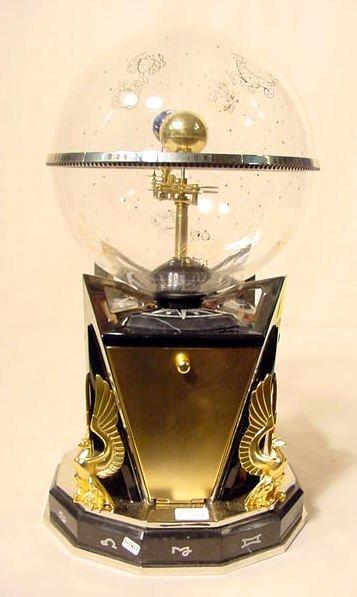 2588: Modern David Baraky Orrery Astro Clock NR