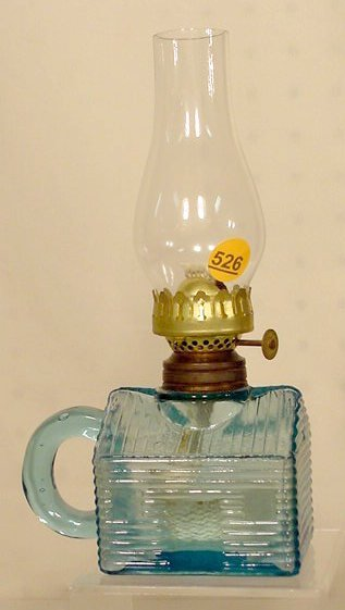 526: Miniature Log Cabin Figural Finger Lamp NR