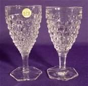 "579: 10 Fostoria "" American"" Pattern Water Goblets NR"