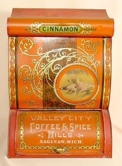 1126: Tin Valley City Coffee & Spice Tin Spice Bin NR