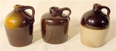 1236: 3 Small Stoneware Jugs NR