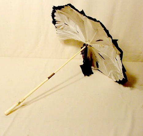 1502: Parasol With Carved Ivory Handle NR