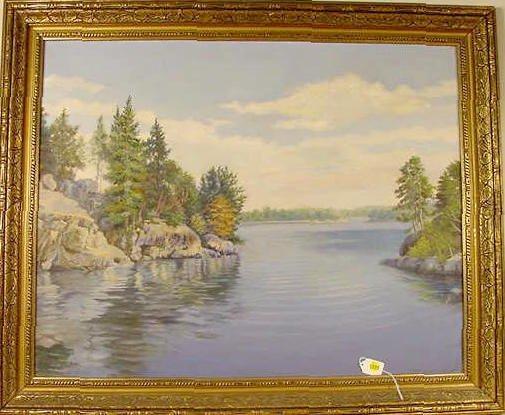 1506: John Conrad Hansen Scenic Oil on Canvas NR