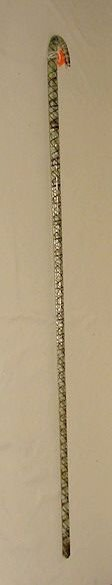 1513: Glass Cane With Crook Handle NR
