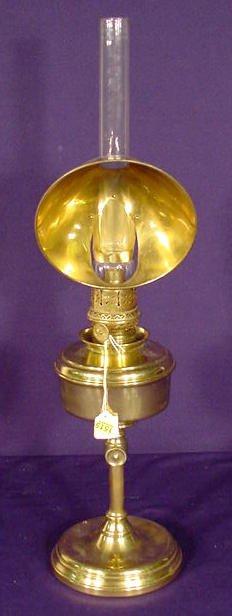 1515: Adjustable Brass Kerosene Reflector Lamp NR