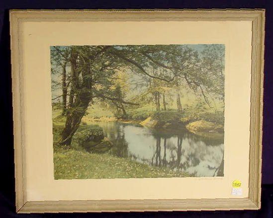 "1842: Wallace Nutting Print ""A Sheltered Brook"" # 8142"