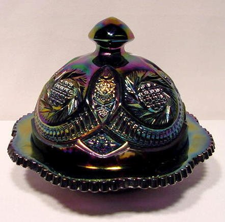 2: Smith Glass  Amethyst Butter Dish