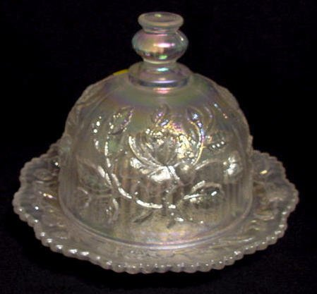 23: Imperial White 489 Rose Covered Butter Dish
