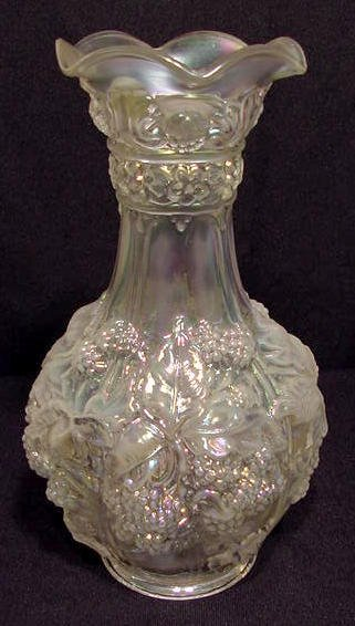 24: Imperial Glass White Loganberry Vase