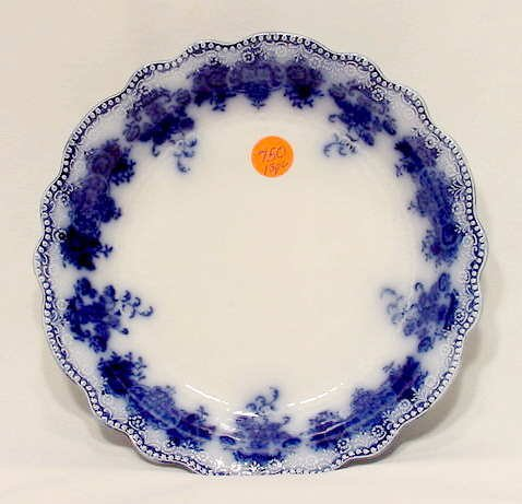 """750: 13 Clarence Flow Blue 7 3/4"""" dia. Soup Bowls"""