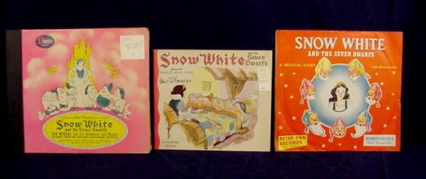 19: Snow White & 7 Dwarfs Records and Book NR