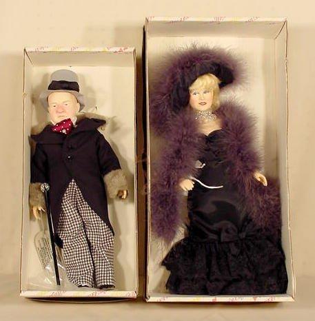69: 2 Effanbee Mae West WC Fields Dolls NR