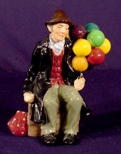 "516: Royal Doulton ""The Balloon Man"" Figurine NR"
