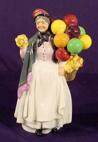 """517: Royal Doulton """"Biddy Penny-farthing"""" Figurine NR"""