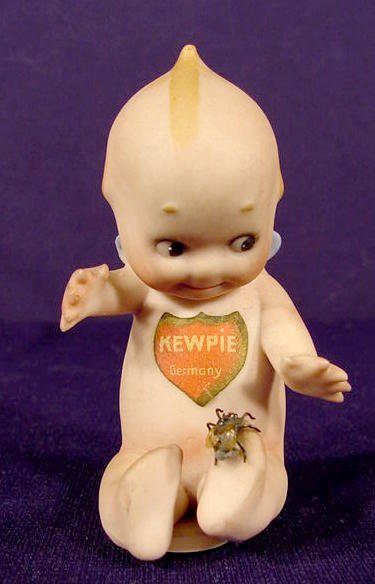 755: Shield Label Bisque Kewpie With Fly on Foot NR