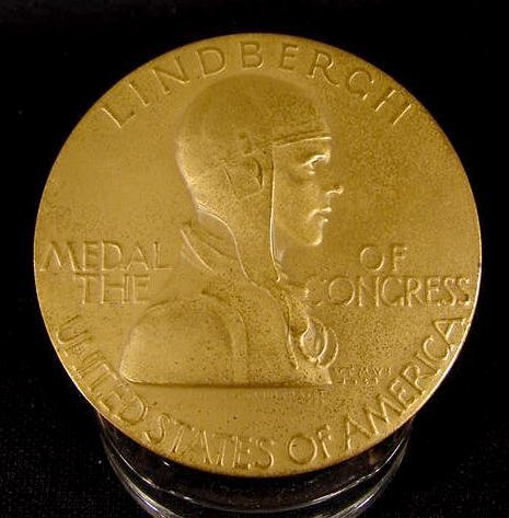 301: 1928 Lindbergh Medal of the Congress NR