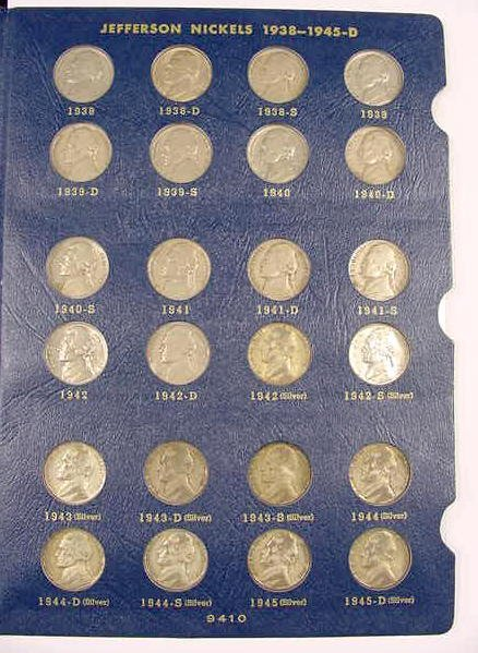 310: Complete Set of Circ Jefferson Nickels NR