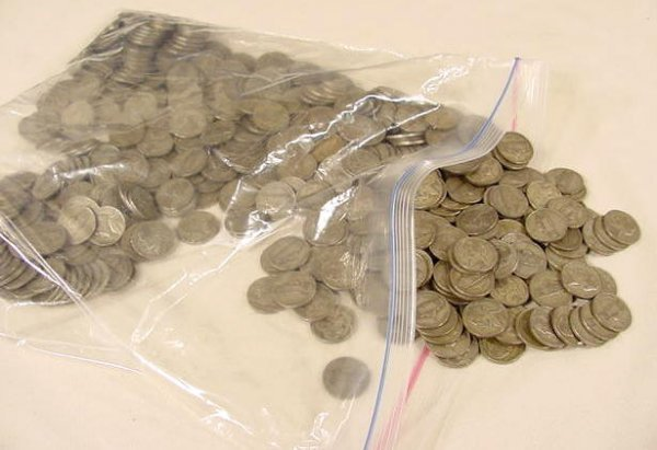 311: Bulk lot 500 Circ Jefferson War Nickels NR