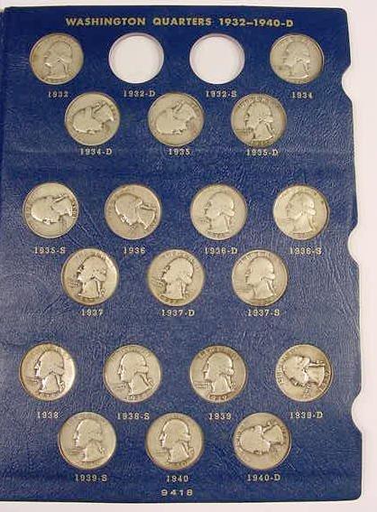 318: 61 Piece Washington Quarter Set