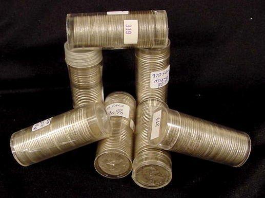 320: $70.00 Face 90% Silver Washington Quarters