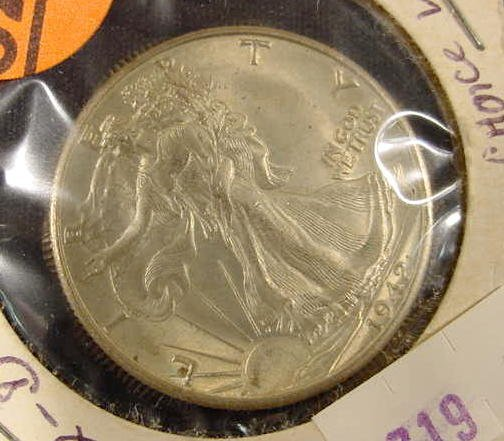 327: 1942-D Walker  Possibly Choice Uncirculated