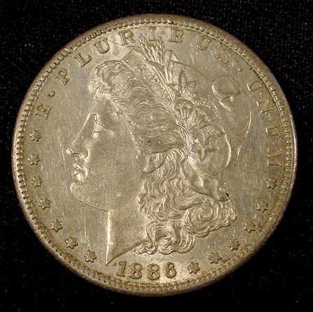 334: 1886 -S Morgan Silver Dollar