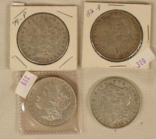 336: 79-P, 82-P, 84-P, 86-P Morgan Dollars