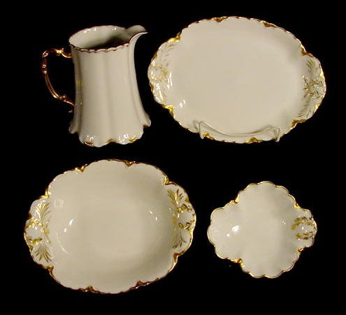 1013: 4 Marked Haviland China Serving Pieces NR