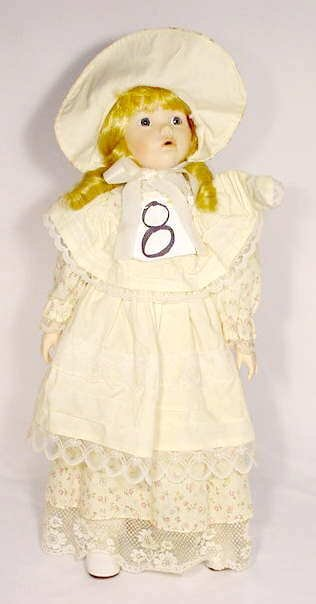 1008: Unmarked Porcelain & Cloth Doll