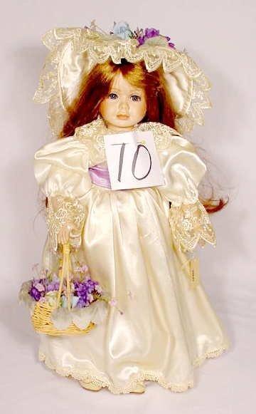 "1010: Seymour Mann Porcelain & Cloth Doll  ""Violet"""
