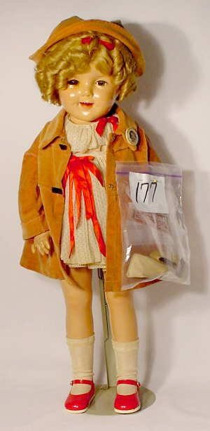 """1177: Ideal Composition """"Shirley Temple"""" Doll"""