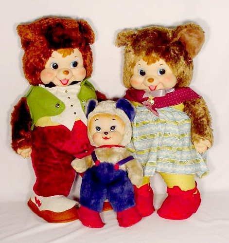 "1250A: The Rushton Co. Bear Dolls ""The Three Bears"""
