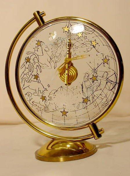 47: LeCoultre 16 Jewel Zodiac Clock NR