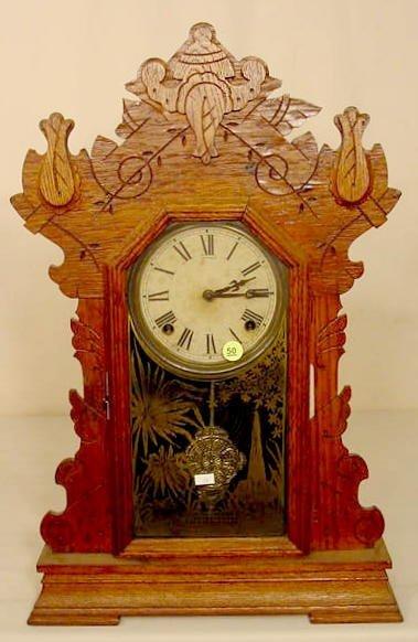 50: Sessions Oak Parlor Clock NR