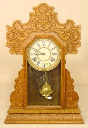 Oak Kitchen Clock NR