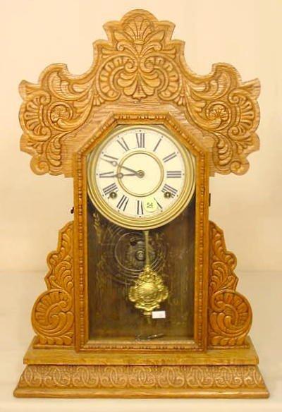 54: Oak Kitchen Clock NR