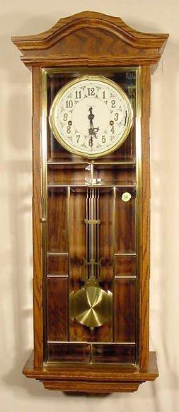 56: Ansonia Gold Medallion Chiming Wall Clock NR