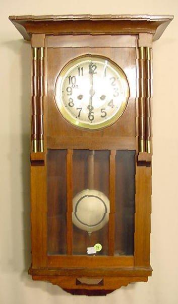 59: Gustav Becker Walnut Wall Clock NR
