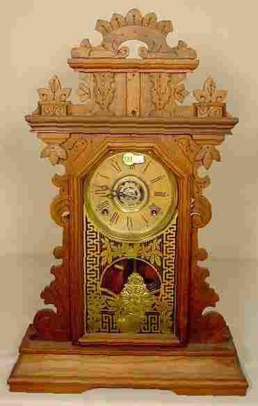 Ingraham Walnut Kitchen Clock With Alarm NR