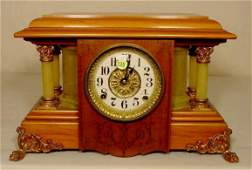 135 Seth Thomas Adamantine  Column Clock NR