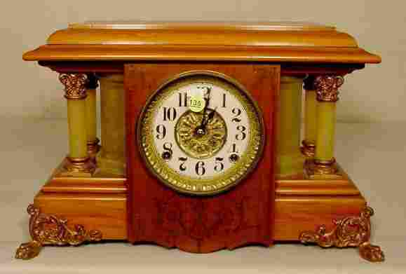Seth Thomas Adamantine & Column Clock: NR