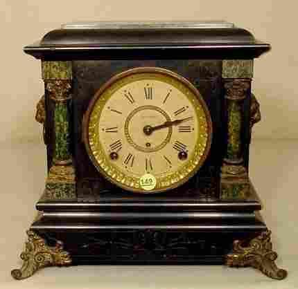 Seth Thomas Adamantine Mantle Clock NR