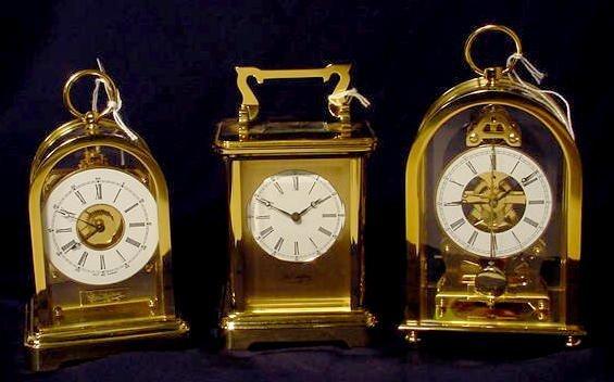 234: 3 Du Chateau Modern Desk Clocks NR