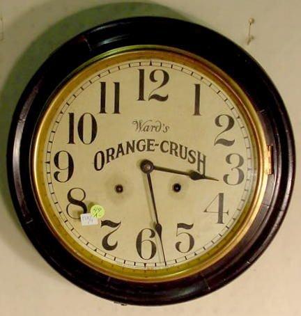 49A: Ingraham Orange Crush Gallery Clock NR