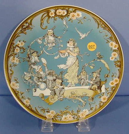 507: Mettlach Villeroy & Boch Snow White Plate NR