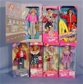 509 7 Mattel Barbie  Ken Dolls In Original Boxes NR
